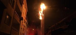Patlamanın ardından alev topuna döndü Bursa'nın Orhangazi ilçesinde bir apartman dairesi alev alev yandı
