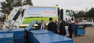Tosya Kaymakamlığından köylere çöp konteyneri dağıtımı sürüyor