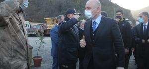 Ulaştırma ve Altyapı Bakanı Adil Karaismailoğlu Giresun'un Dereli ilçesinde incelemelerde bulundu