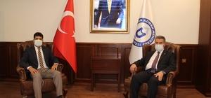 Başkan Erol, ADÜ Rektörü Aldemir ile görüştü