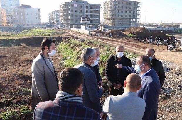 Başkan Ramazan cami inşaatını inceledi