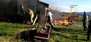 Bursa'da yangın paniği...Muhtarın evi küle döndü