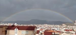Bursa'da renk cümbüşü Gökkuşağı görenleri hayran bıraktı