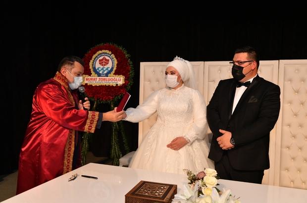 Ortahisar'da 2020 yılında bin 913 çiftin nikahı kıyıldı