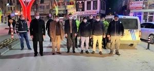 Başkan Çöl sokağa çıkma kısıtlamasında denetimlere katıldı