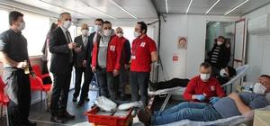 Tosya'da din görevlilerinden kan bağışı kampanyasına destek