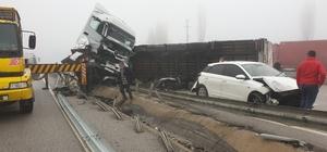 Kastamonu'da yoğun sis zincirleme trafik kazasına sebep oldu: 3 yaralı