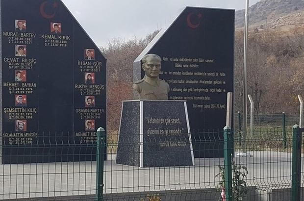 Silvan'da şehitler için anıt park yapıldı