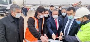 24 Ocak depreminin ardından yapılan konutlar teslim aşamasına geldi Milletvekili Tüfenkci inşası süren deprem konutlarını inceledi
