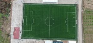 Çilimli futbol sahası tamamlandı