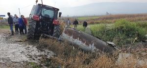 Beton mikseri traktöre çarptı: 1 ağır yaralı