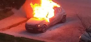 İlk iş gününde alev alev yanan otomobilinde can verdi İşe gitmek için bindiği otomobili sonu oldu 25 yaşındaki genç, önce patlayan sonra alev alev yanan otomobilin içinde öldü