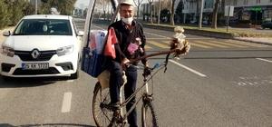 Feyzullah Dede, emekli olduktan sonra bisikleti ile yeniden gençleşti