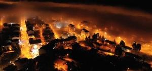 Çameli'de havadan çekilen gece fotoğrafı adeta büyüledi
