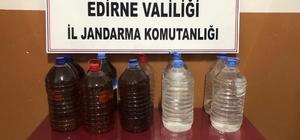 Edirne'de 110 litre kaçak içki