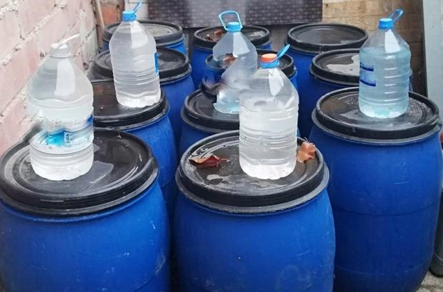 Malatya'da sahte alkol imalathanesine baskın