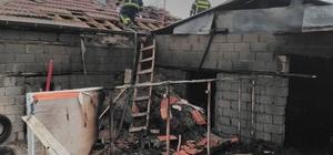 Konya'da ağıl yangını:38 küçükbaş hayvan telef oldu