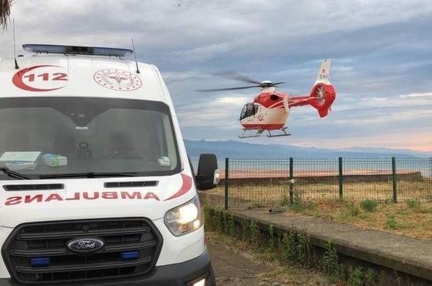 """Coğrafi şartlarının en zor olduğu bölgede görev yapıyorlar Hava 61 Helikopter Ambulans geçen yıl 201 hasta için havalandı Trabzon Sağlık İl Müdürü Dr. Hakan Usta: """"Hava ambulansını Türkiye'de en çok kullanan bölgelerin başında geliyoruz"""""""