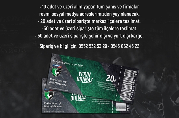 Denizlispor yönetimi kapı kapı dolaşacak Denizlispor'dan Sezonluk Hatıra Bilet satışı
