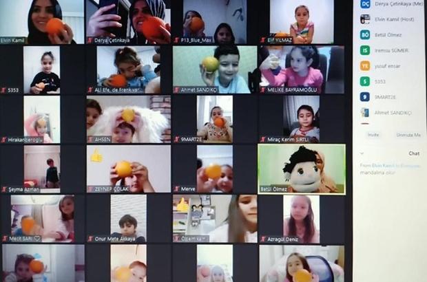 Kuklalarla çevrimiçi derse yoğun ilgi Akasya ve Çınar'la keyifli eğitim