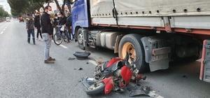 Aydın'da trafik kazası: 1 yaralı Motosiklet sürücüsü ölümden döndü