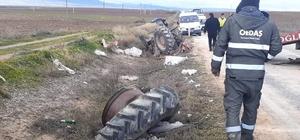 Eskişehir'de çarpışan 2 araç şarampole yuvarlandı: 1'i ağır 2 yaralı