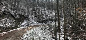 Çanakkale'de yılın ilk karı Kaz Dağları'na yağdı