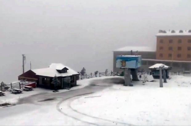 Samsun'da kar sevinci Akdağ beyaza büründü
