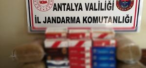 Antalya'da jandarmadan açıkta tütün satanlara ceza