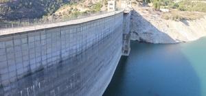 Kemer Baraj Gölü'nde su seviyesi kritik durumda