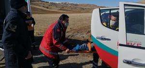 Kazada yaralanıp çamurlu zeminde mahsur kalan şahsı UMKE kurtardı