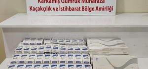 Karkamış'ta 2 bin 150 paket kaçak sigara yakalandı