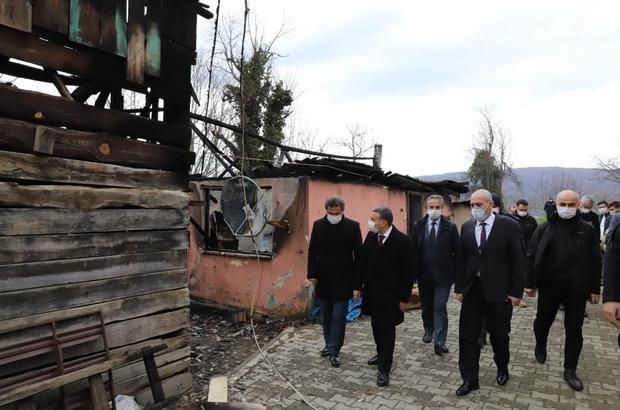 Vali Atay'dan evi yanan vatandaşa geçmiş olsun ziyareti