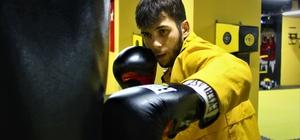 Abisini kıskandığı için başladığı sporda başarıdan başarıya koşuyor Genç boksör olimpiyatlarda Türkiye'yi temsil edebilmek için ter döküyor