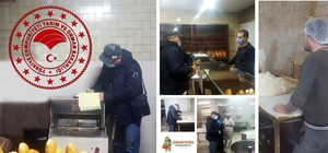 Çine'de ekmek fırınları denetlendi 4 işletmeye idari yaptırım uygulandı