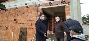 Evi yanan vatandaşa kaymakamlıktan ev yardımı