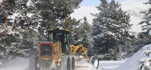 Erzincan'da kar ve tipiden 363 köy yolu ulaşıma kapandı