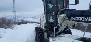 Arguvan'da kar etkili oluyor