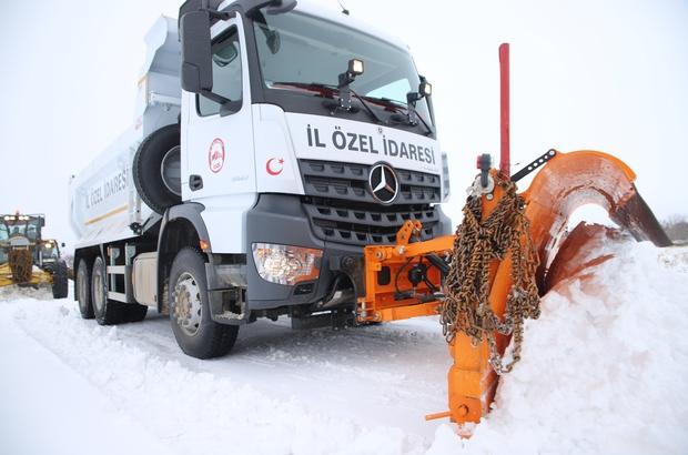 Elazığ'da kar nedeniyle kapanan 148 köy yolu açıldı, 121'i için çalışma sürüyor