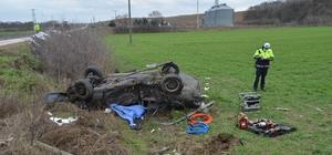 Tekirdağ'da feci kaza: 2 ölü, 4 yaralı