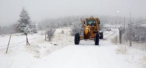 Elazığ'da kar nedeniyle 40 köy yolu kapalı