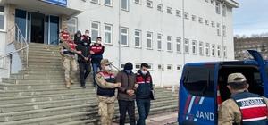 Ordu'da direklerden telefon kablosu çalanlar yakalandı