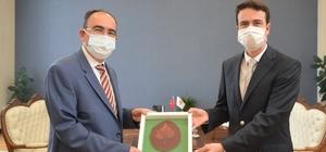 Kaymakam Açıkgöz ve Başkan Kepez'den Rektör Beydemir'e ziyaret