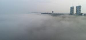 Adana'daki sis denizi hayran bıraktı Adana'da kartpostallık görüntüler oluştu
