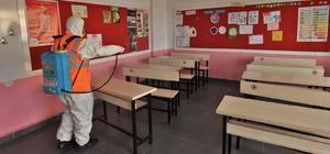 Kırsal mahallelerdeki okullar dezenfekte ediliyor