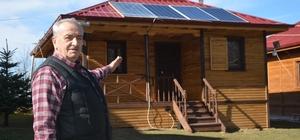 Evine kurduğu sistemle 15 yıldır elektriğe para vermiyor