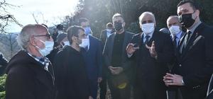 """Başkan Zorluoğlu'ndan Sürmene'ye """"Geçmiş olsun"""" ziyareti"""
