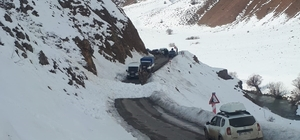 Bingöl'de çığ düştü, yol kısa süreli kapandı