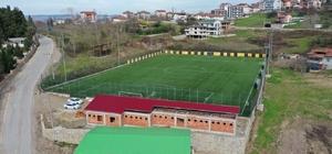 Bahçecik stadı spor tesisinde çalışmalar sürüyor