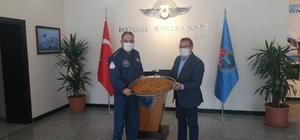 Başkan Kazgan'dan Komutan Koltukoğlu'na kömbeli ziyaret